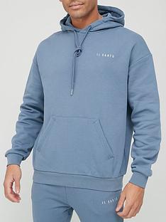 il-sarto-logo-hoodie-blue