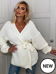 in-the-style-in-the-style-x-billie-faiers-balloon-sleeve-cardigan-white