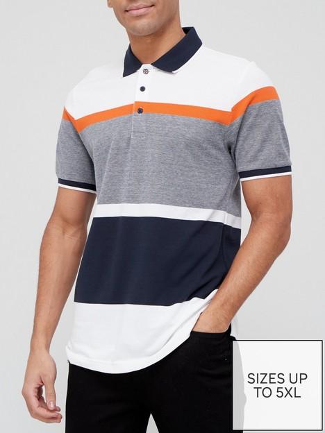very-man-colour-blocked-pique-polo-shirt-multi