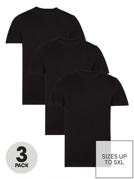 very-man-3-pack-ofnbspessentialnbspcrew-t-shirt-black