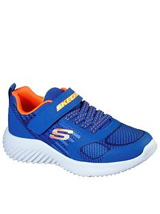 skechers-boysnbspbounder-strap-trainer-blue
