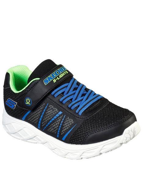 skechers-boysnbspdynamic-flash-strap-trainer-blue