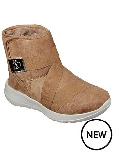 skechers-girlsnbspgo-walk-joy-ankle-boot-chestnut