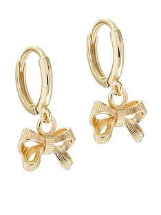 ted-baker-perrienbsppetite-bow-huggie-earring-gold