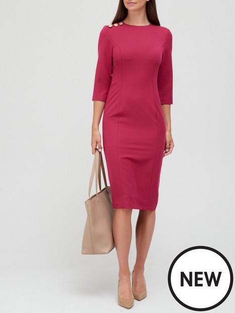 v-by-very-button-shoulder-midi-dress-burgundy