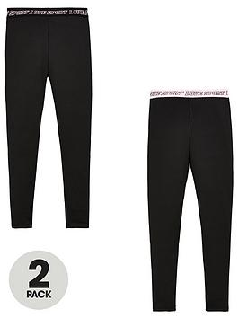 v-by-very-girls-2-pack-printed-waistband-active-leggings-co-ord-black