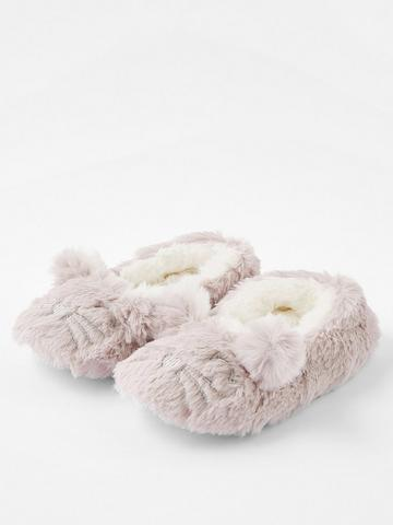 Size 5 to 12 Details about  /Women/'s Bootie Slippers Pom Poms Metallic Sequin House Slippers