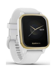 garmin-venureg-sq-gps-smartwatch-with-all-day-health-monitoring-light-gold-with-white-band