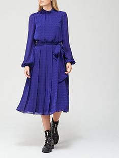 ted-baker-satin-pleated-midi-dress-blue