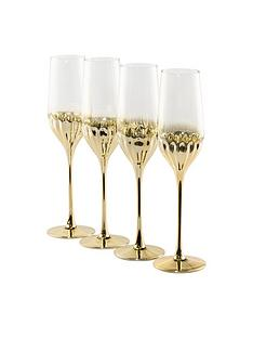 waterside-set-of-4-gold-art-deco-flute-glasses