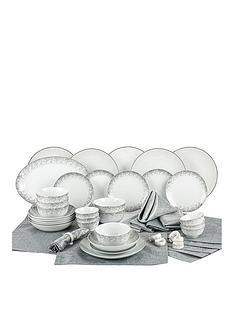 waterside-50-piece-silver-sparkle-dinner-set