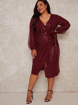 chi-chi-london-curve-julio-sparkle-midi-dress-burgundy