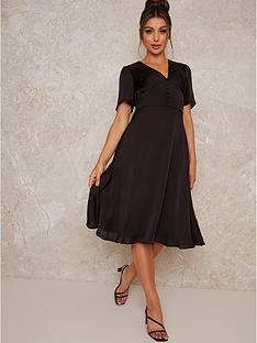 chi-chi-london-ellisha-elasticated-waist-midi-dress-black