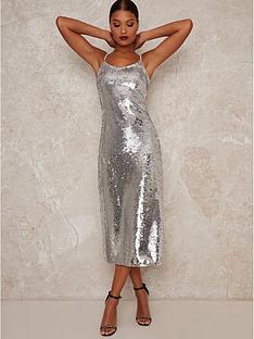 chi-chi-london-meemi-cowl-neck-bodycon-midi-dress-silver