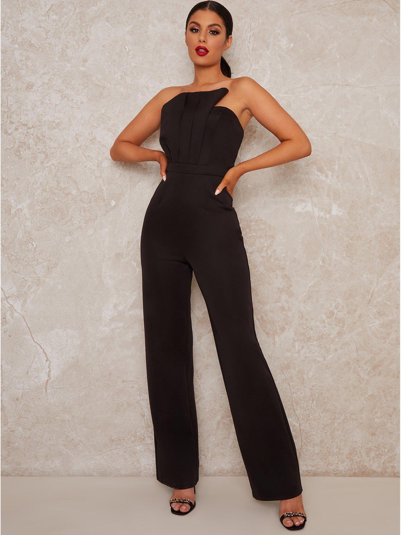 Chi Chi London Deiree Wide Leg Jumpsuit - Black