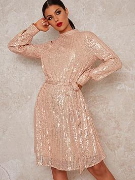 chi-chi-london-johanah-dress-rose-gold
