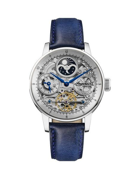 ingersoll-ingersoll-the-jazz-silver-skeleton-moonphase-automatic-dial-blue-leather-strap-watch