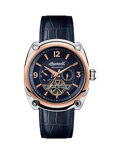 ingersoll-ingersoll-the-michigan-blue-and-rose-gold-detail-automatic-dial-blue-leather-strap-watch