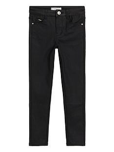 mango-girls-coated-jeans-black