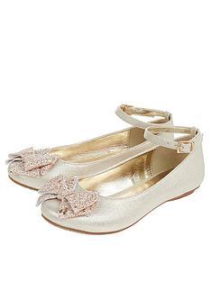 monsoon-girls-giselle-glitter-bow-ballerina-gold
