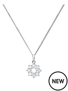 the-love-silver-collection-rhodium-plated-sterling-silver-cubic-zirconia-snowflake-pendant-necklace