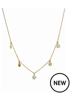 evoke-gold-plated-sterling-silver-clear-swarovski-crystals-disc-station-necklace