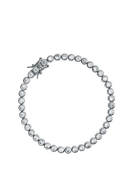 the-love-silver-collection-rhodium-plated-sterling-silver-round-cubic-zirconia-tennis-bracelet