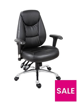 teknik-office-portside-faux-leathernbspoffice-chair-black