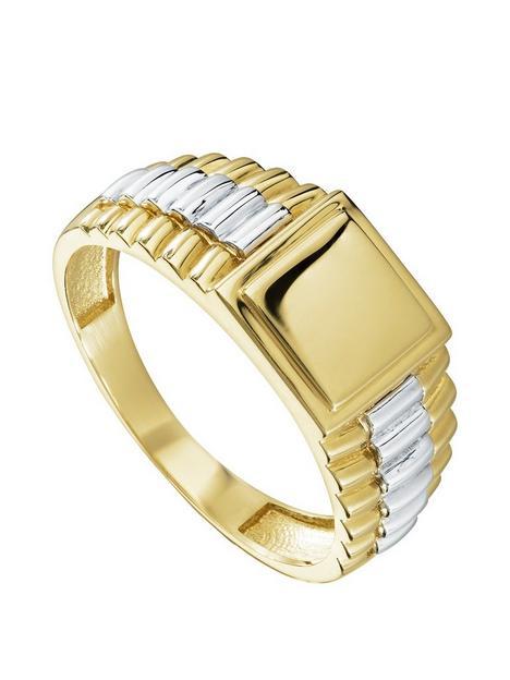 love-gold-9ct-white-amp-yellow-gold-ridged-gents-signet-ring