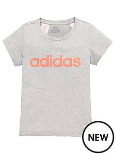 adidas-youth-girls-essentials-linear-t-shirtnbsp--grey