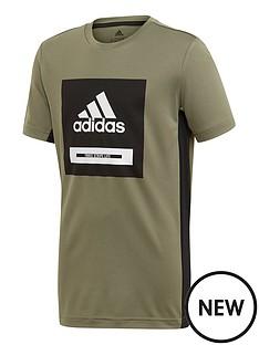 adidas-junior-boys-training-bold-logonbspshort-sleevenbspt-shirt-blackwhite