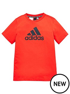 adidas-youth-boys-must-haves-badge-of-sport-t-shirt-redblack
