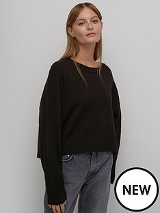 nobodys-child-boxy-crew-neck-jumper-black
