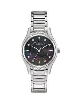 bulova-black-mother-of-pearl-and-diamond-dial-stainless-steel-bracelet-ladies-watch