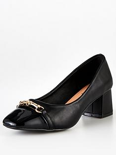wallis-trim-flared-block-heel-black