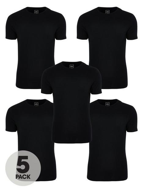 river-island-5-packnbspmuscle-fitnbspt-shirtnbsp--black