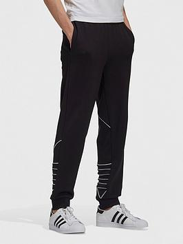 adidas-originals-adidas-originals-big-trefoil-outline-sweat-pants-blackwhite
