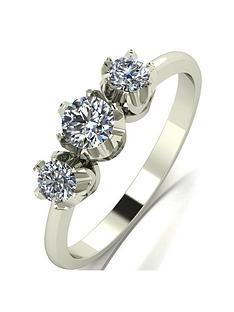 prod1089914227: 9ct White Gold 0.50ct Diamond Trilogy Ring
