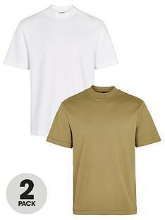 river-island-2-pack-slim-fit-high-neck-t-shirt-multi