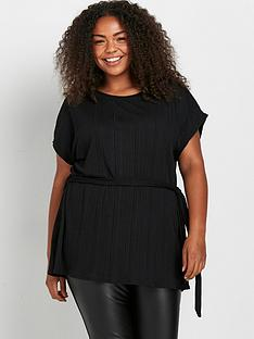 evans-belted-top-black