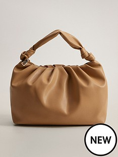 mango-knotted-handle-bag-beige