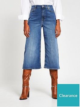 river-island-high-waist-denim-culottes-mid-blue