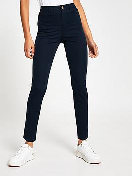 river-island-molly-twill-skinny-fit-trousersnbsp--navy