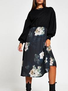 river-island-woven-jersey-mix-sweater-dress-floral