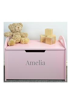 personalised-pink-wooden-toy-chest