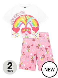 dreamworks-trolls-girls-trolls-2-piece-love-always-t-shirt-and-cycling-short-set-pink