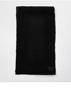 river-island-rubberised-rib-knit-scarf