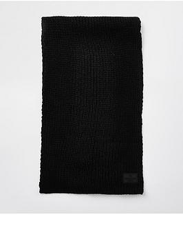 river-island-rubberised-rib-knit-scarf
