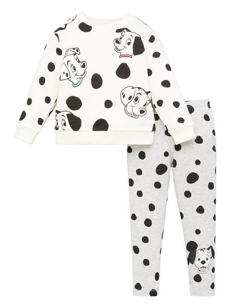 disney-101-dalmatians-girls-disney-2-piece-set-whitegrey