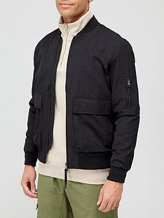 topman-wilt-pocket-bomber-jacket-black